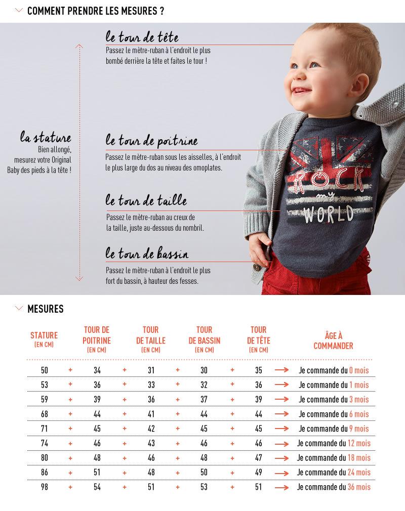 0cca683d14b8 Guide des tailles   Tape à l œil