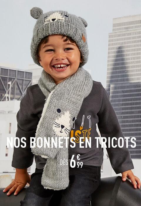 Nos bonnets en tricots dès 6€99