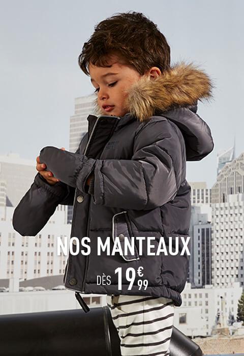 Nos manteaux dès 19€99