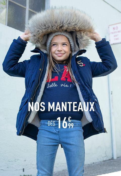 Nos manteaux dès 16€99