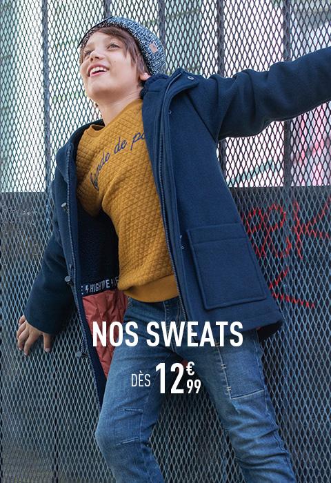 Nos sweats dès 12€99