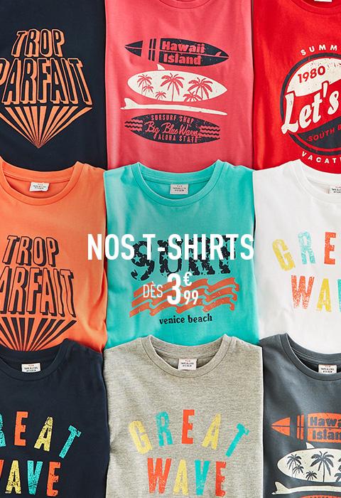 Nos tee-shirts