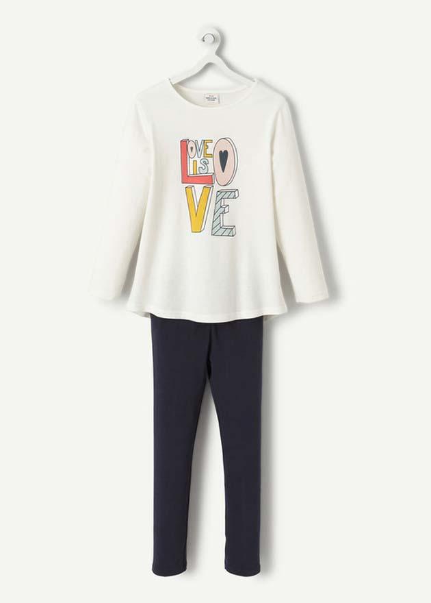 Le pyjama au message pailleté et coloré