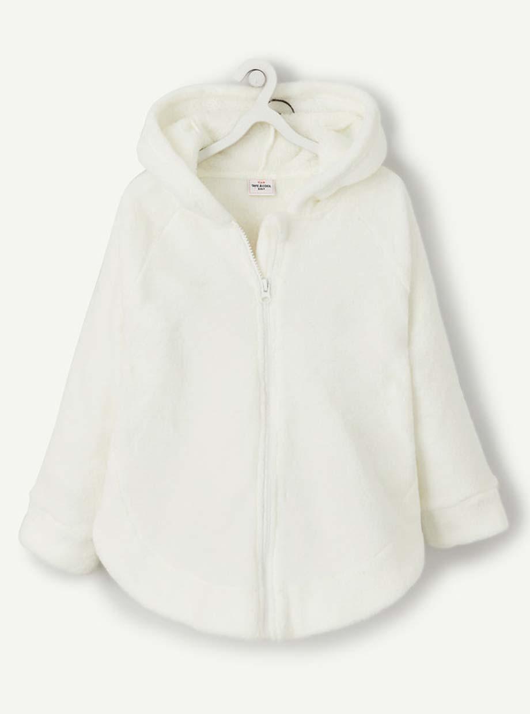 La robe de chambre à capuche en polaire