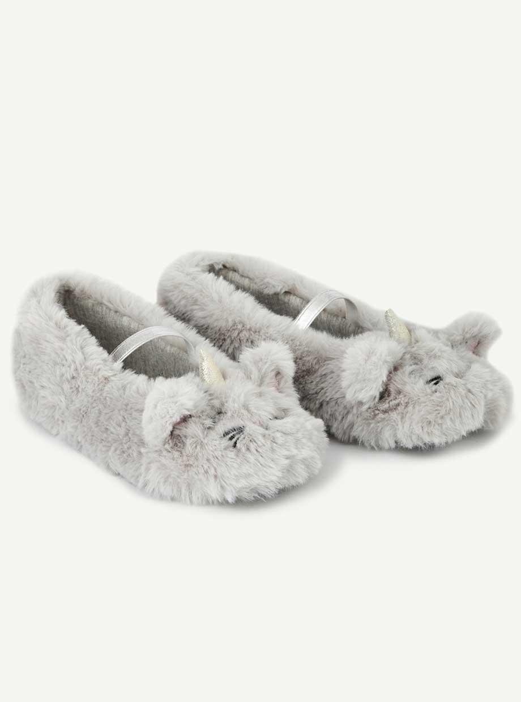 Les chaussons licorne en sherpa